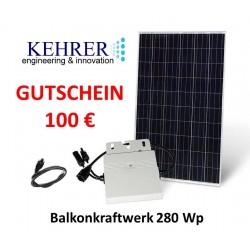 100 € Gutschein Balkonkraftwerk 280 Wp
